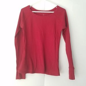 GAP | Deep Red Longsleeved Thermal Top
